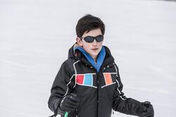 Zonnebril Teen 500 voor skiën en bergsporten, kinderen 7-10, wit, categorie 4 - 30983