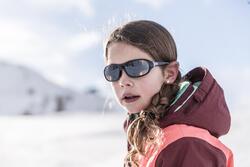 Zonnebril Teen 500 voor skiën en bergsporten, kinderen 7-10, wit, categorie 4 - 30989