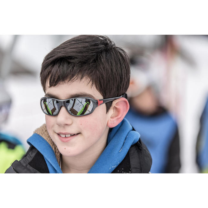 Wandelzonnebril kinderen 8-10 jaar MH T500 grijs categorie 4