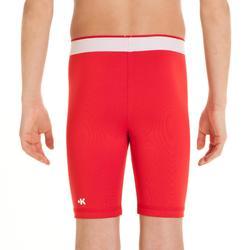 Pantalón térmico de fútbol júnior Keepdry 100 rojo