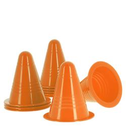 Pack of 10 inline skating slalom cones Orange / Green / Blue / Pink