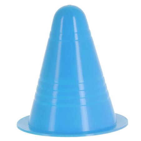 Pack of 10 inline skating slalom cones Orange / Green / Blue / Pink