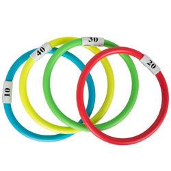 4 anillos acuáticos...