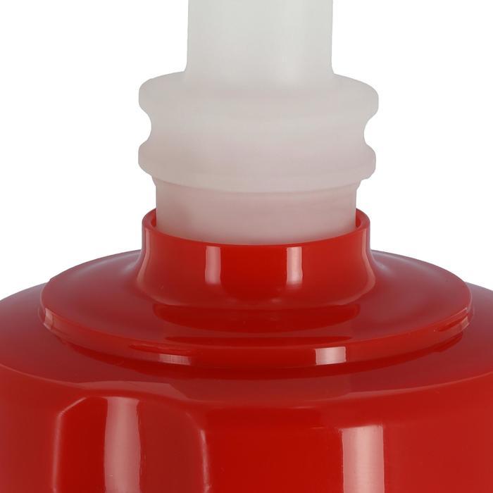Eishockey-Trinkflasche 1Liter mit Trinkhalm weiß