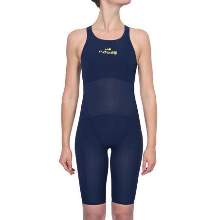 JET Women's open back swimming suit - Blue