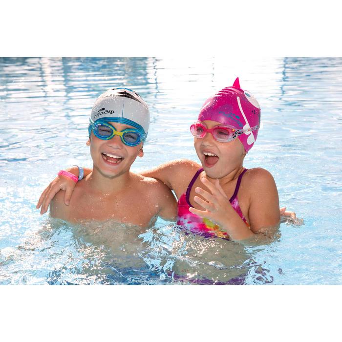 泳鏡100 XBASE,S號 - 藍色橘色