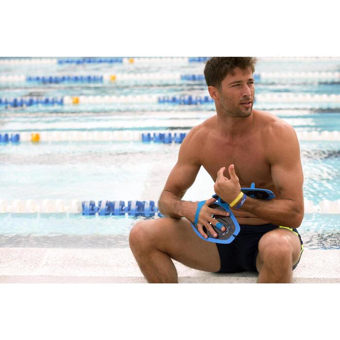 Zwempaddles M grijs
