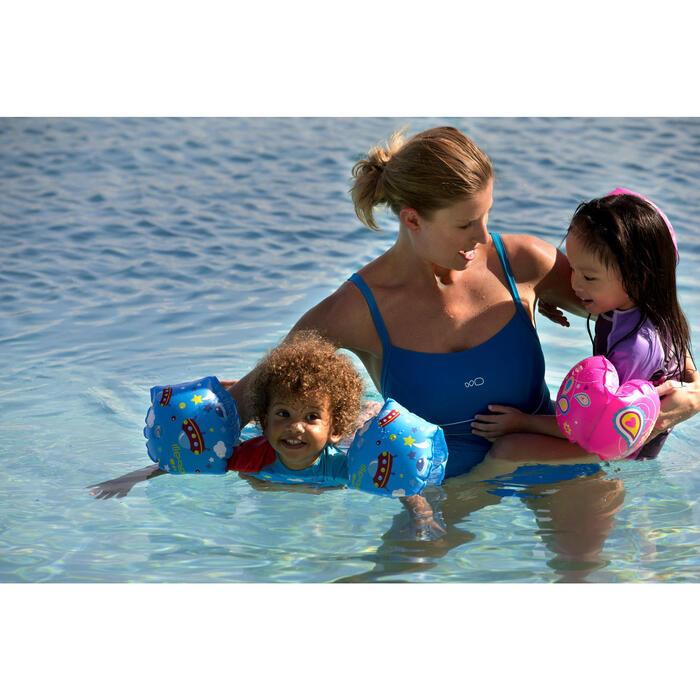 """Brassards de natation enfant bleus imprimés """"ZEBRE"""" - 310742"""