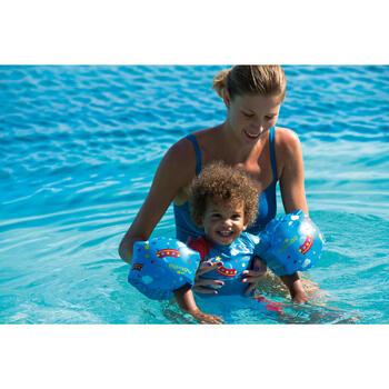 """Brassards de natation enfant bleus imprimés """"ZEBRE"""" - 311425"""