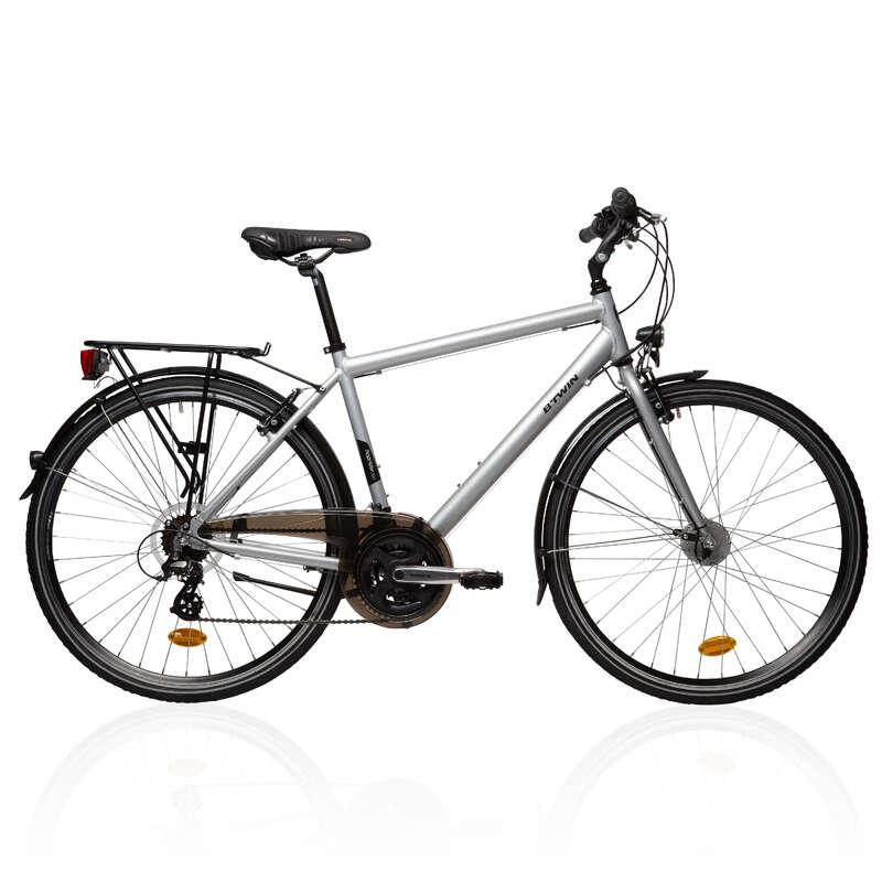 LONG DISTANCE URBAN CYCLING - Hoprider 300 City Hybrid Bike B'TWIN