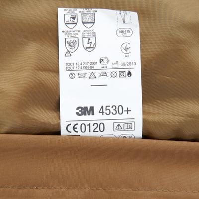 Men's waterproof hiking jacket NH100 - brown blue