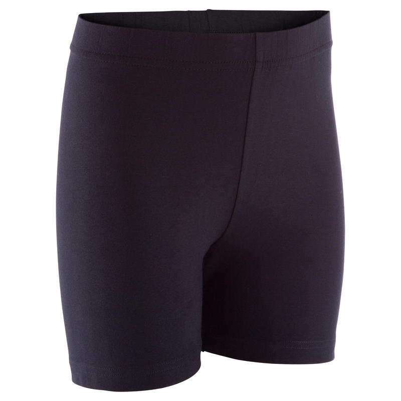 Celana Pendek Gym Anak Perempuan 100 - Hitam