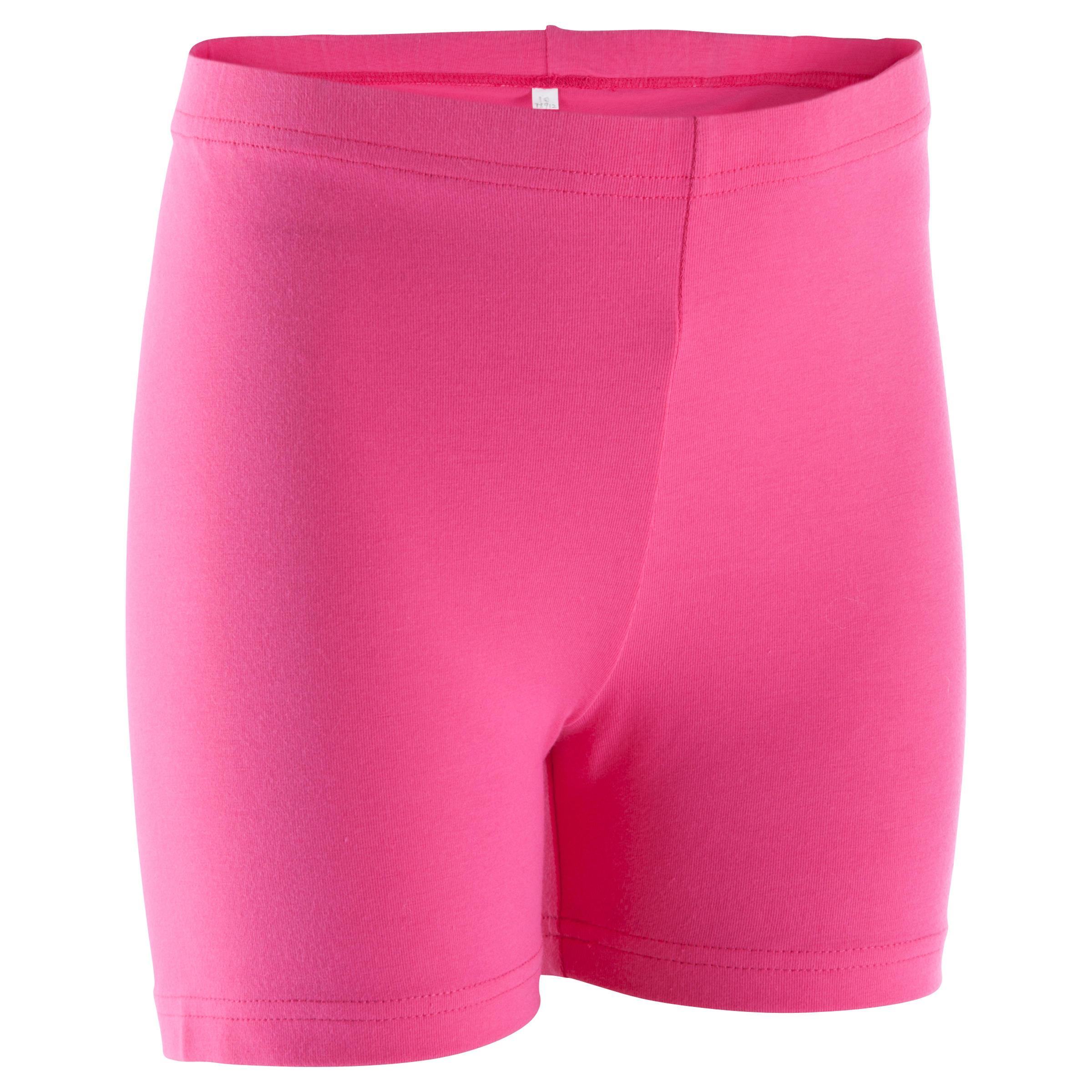 Shorty Gimnasia niña rosa