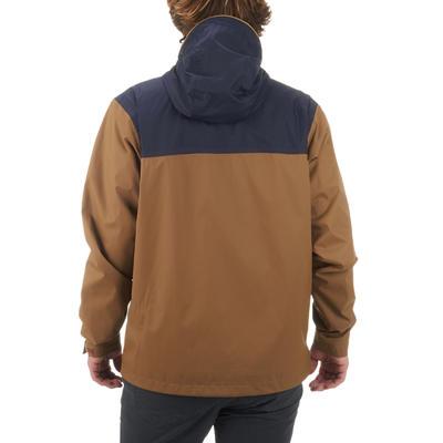 Veste imperméable randonnée nature homme NH100 marron bleu
