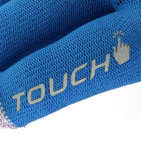 Forclaz Touch Adult Tactile Hiking Liner Gloves - Blue