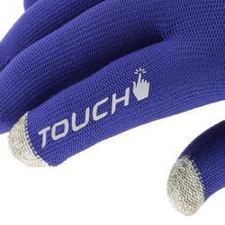 Guantes interiores Adulto Forclaz Touch TÁCTILES azul