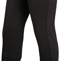 100 Kids' Horseback Riding Jodhpurs - Black