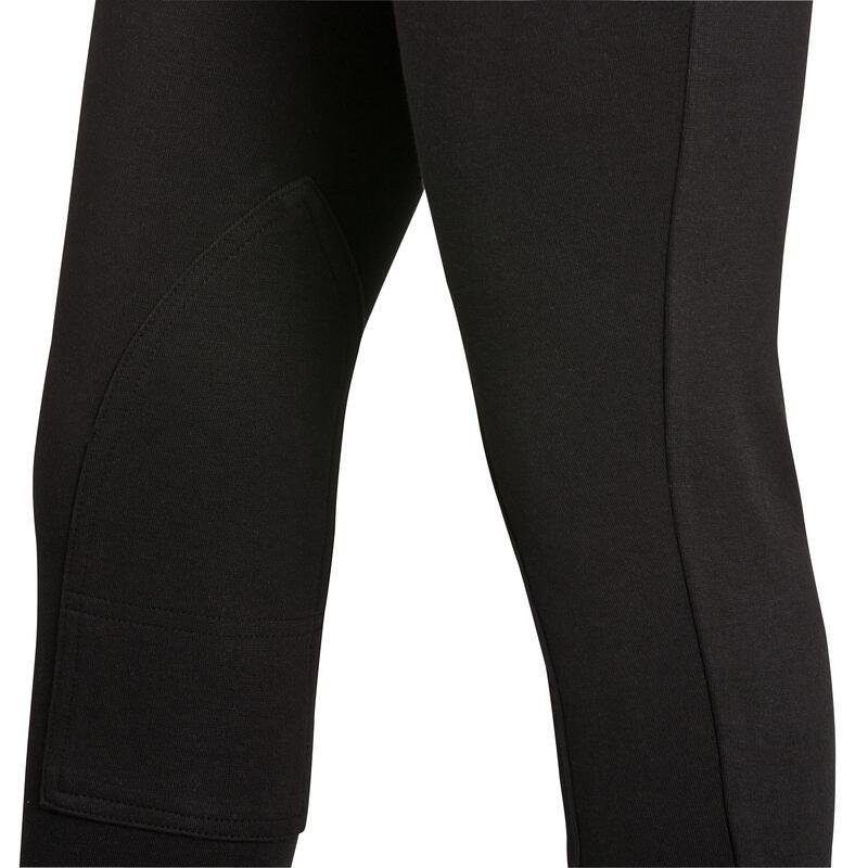 Pantalón equitación niños BR100 negro