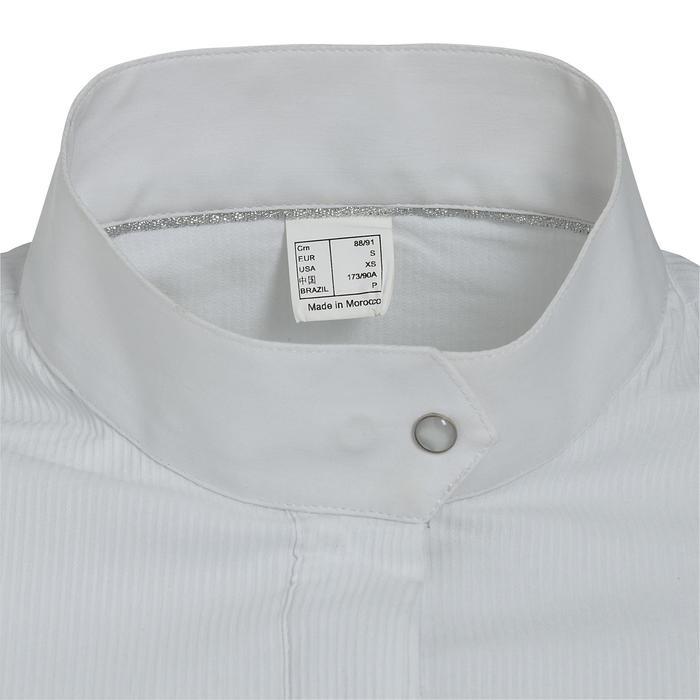 Chemise manches courtes Concours équitation femme blanc broderie argent - 314694