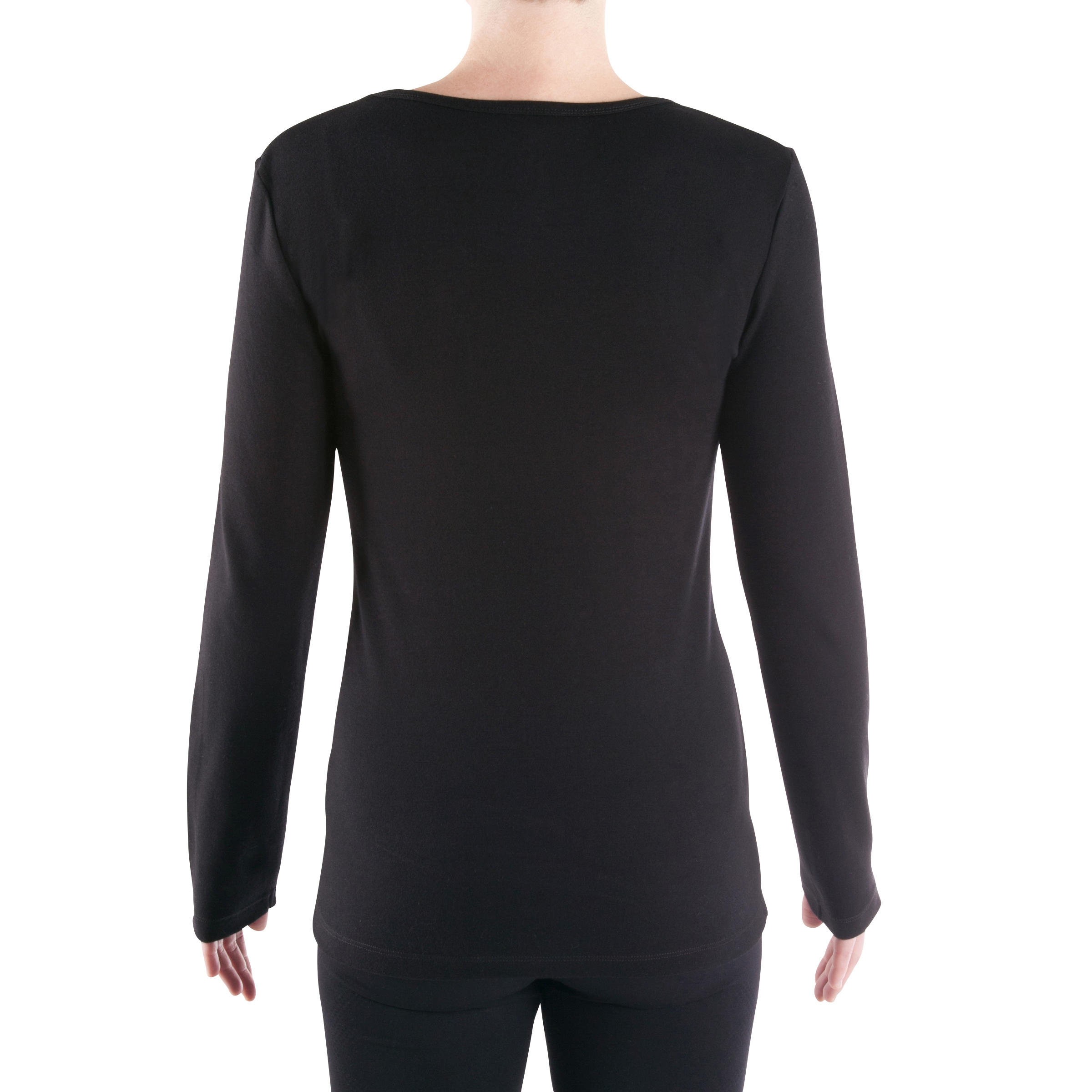 orgánico manga larga GimnasioYoga Mujer Negro Algodón Suave Camiseta de xBsdhtQrC