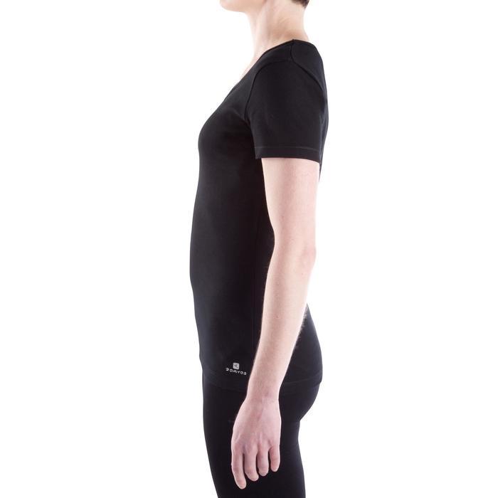 Tee-shirt en coton biologique gym douce, yoga, pilates femme - 314910