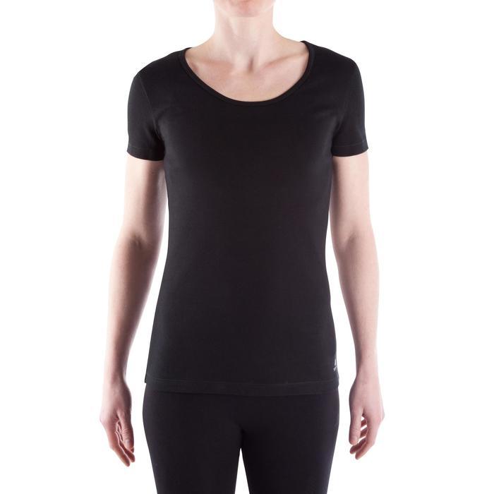 Tee-shirt en coton biologique gym douce, yoga, pilates femme - 314911