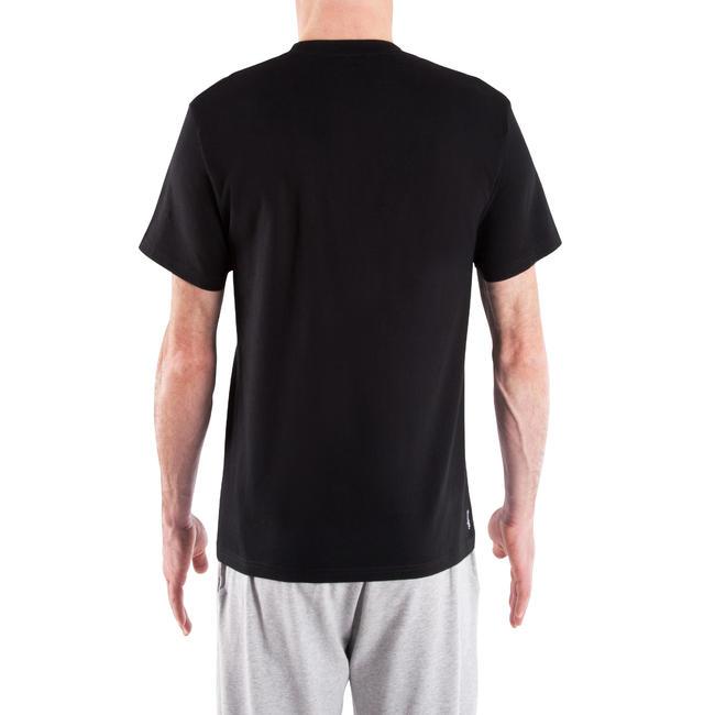 Men's Gym T-Shirt Regular Fit Sportee 100 - Black