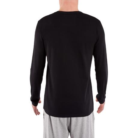 a6c4f9cc8dce T-Shirt 120 manches longues regular Pilates Gym douce noir homme ...