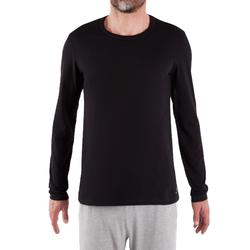 T-Shirt 120 manches longues regular Pilates Gym douce noir homme