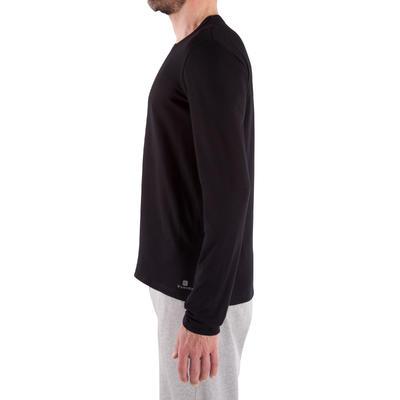 T-Shirt 100 manches longues regular Pilates Gym douce noir homme