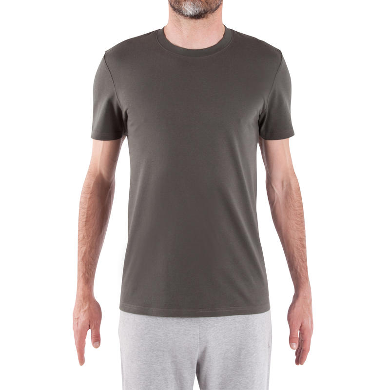 Athletee Essential Cotton Fitness T-Shirt - Khaki Green