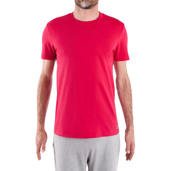 Fitness T-shirt Athletee Essentiel voor heren, katoen - 315275