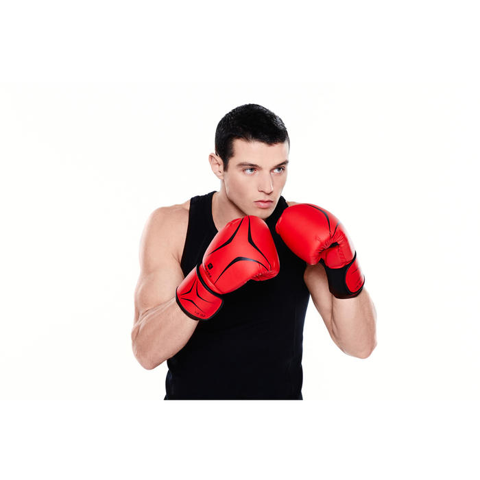 GANTS DE BOXE FKT 180 ROUGE INITIATION ROUGE
