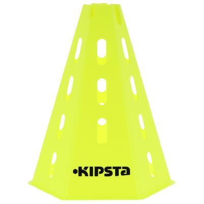 وحدات تدريب cones لكرة القدم 30 سم 6 قطع - لون أصفر.