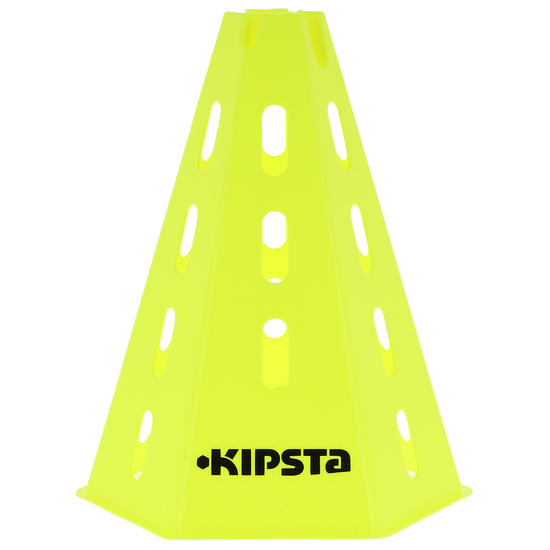 Kipsta 6 moduleerbare kegels 30 cm, geel
