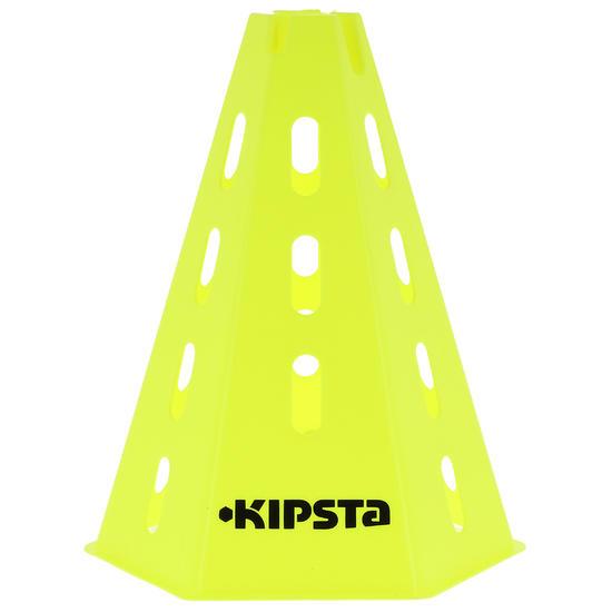 Lote de 6 conos regulables 30 cm amarillo