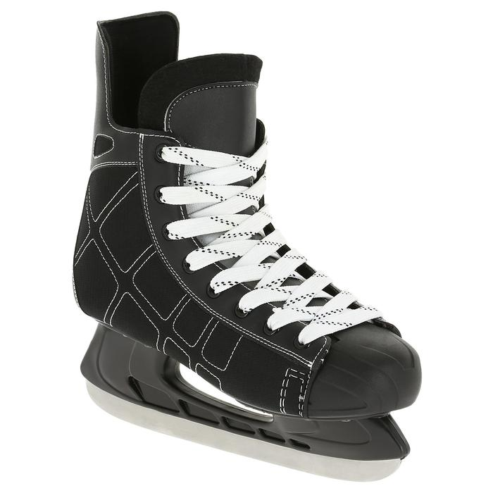 Patin de hockey sur glace junior ZERO noir - 317335