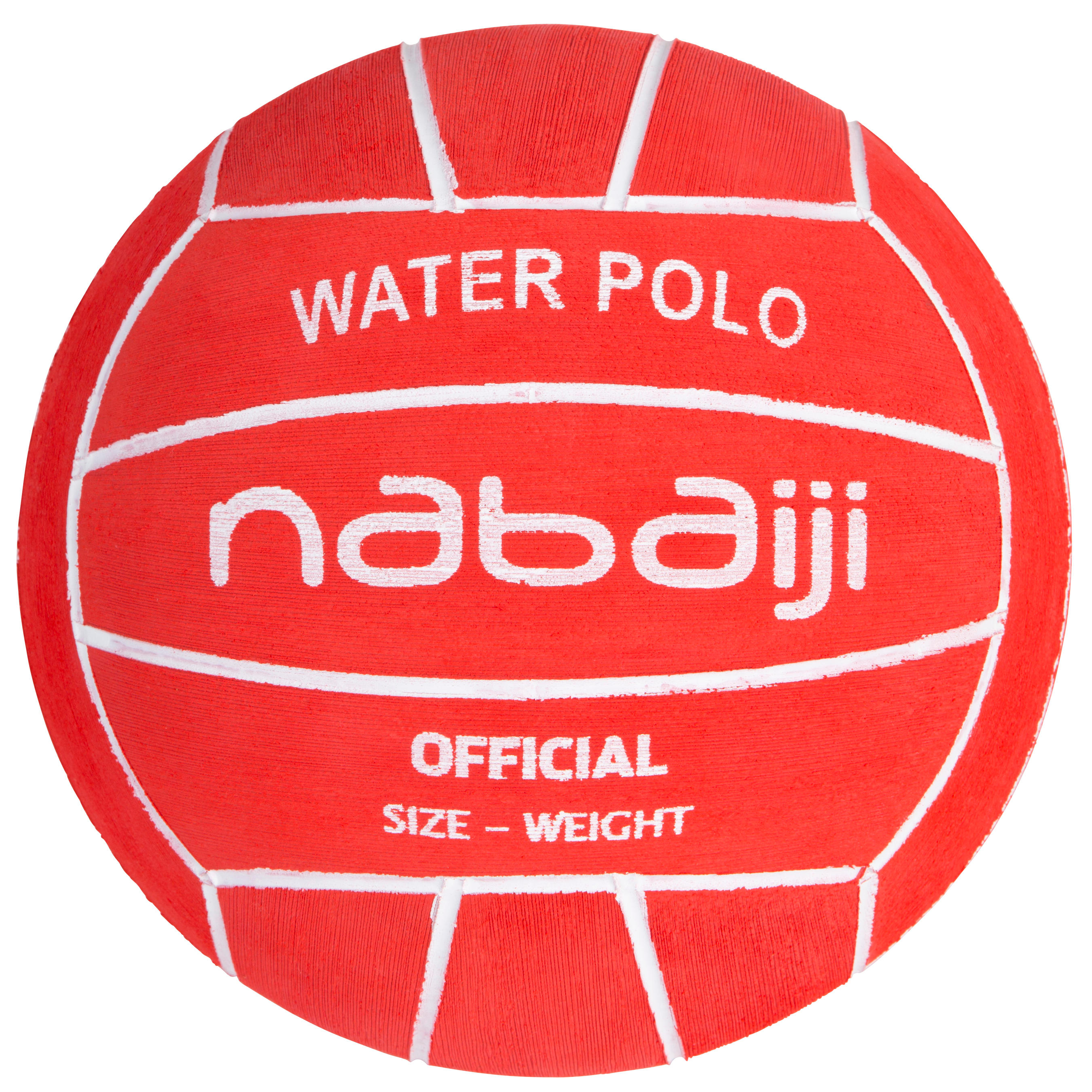Men's official water polo ball - red