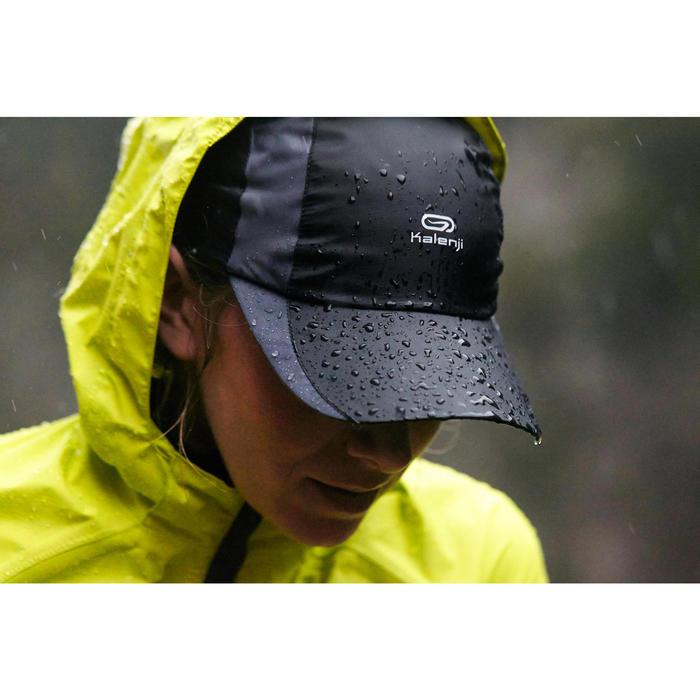 b4dc52211c6 Trail running Sun protect RUNNING RAIN CAP BLACK ADJUSTABLE 55-63 cm ...