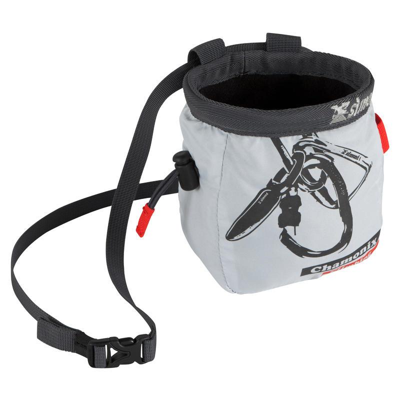 Climbing & Mountaineering CHALK BAG SIZE L LIGHT GREY
