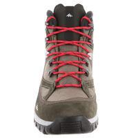 Quechua Forclaz 100 Men's High Waterproof Hiking Shoes - brown