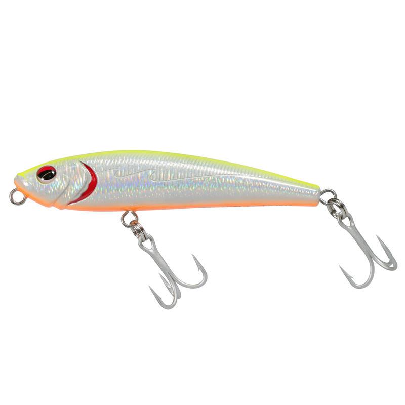 เหยื่อปลั๊กตกปลาทะเลแบบลอยรุ่น Wizdom TW 110 (สีเขียว Holo Lemon)
