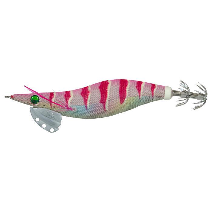 Turlutte EBIKA 2.5 rose pêche des seiches/calamars