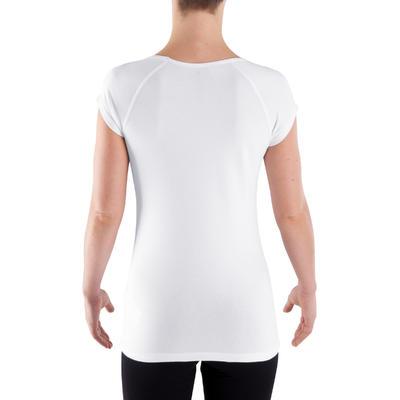 Camiseta de manga corta slim fitness mujer Active blanco