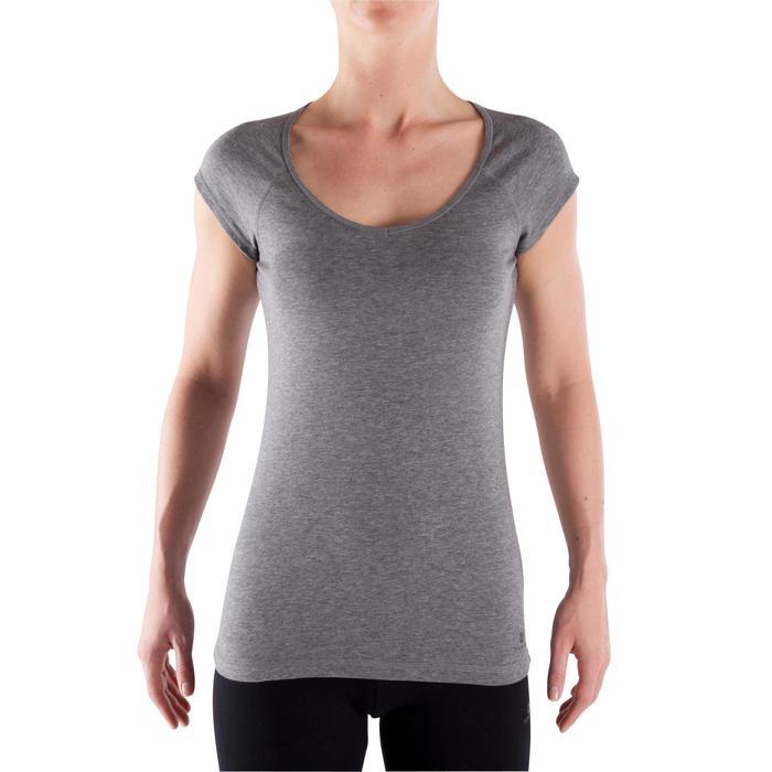 500 Women's Slim-Fit Stretching T-Shirt - Black - 320390