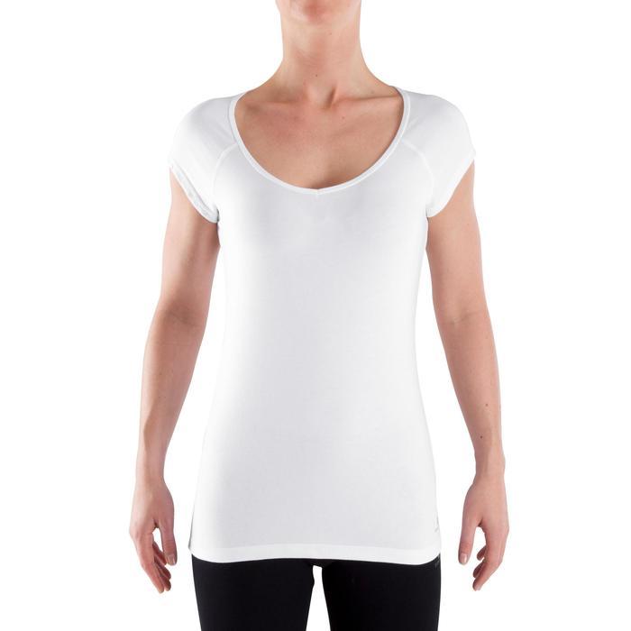 500 Women's Slim-Fit Stretching T-Shirt - Black - 320391