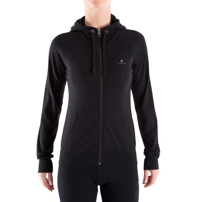 Veste capuche zippée Gym & Pilates femme - 320462