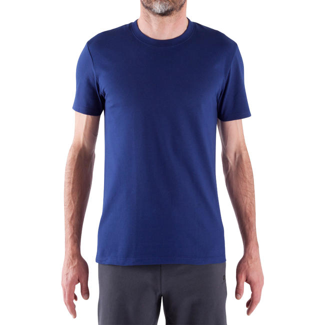 Essential Athletee Cotton Fitness T-Shirt - Dark Blue