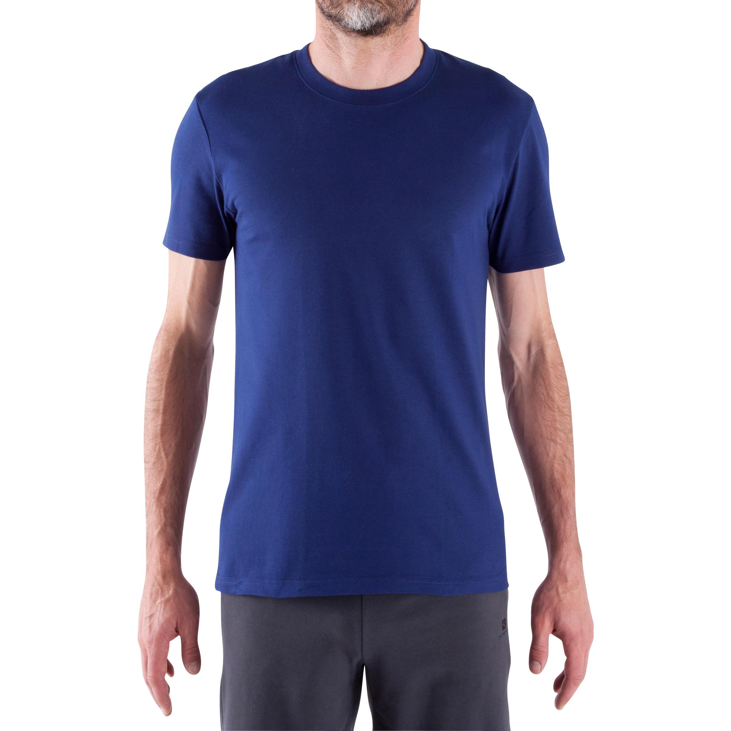 Essential Athletee Cotton Fitness T-Shirt - Dark Blue