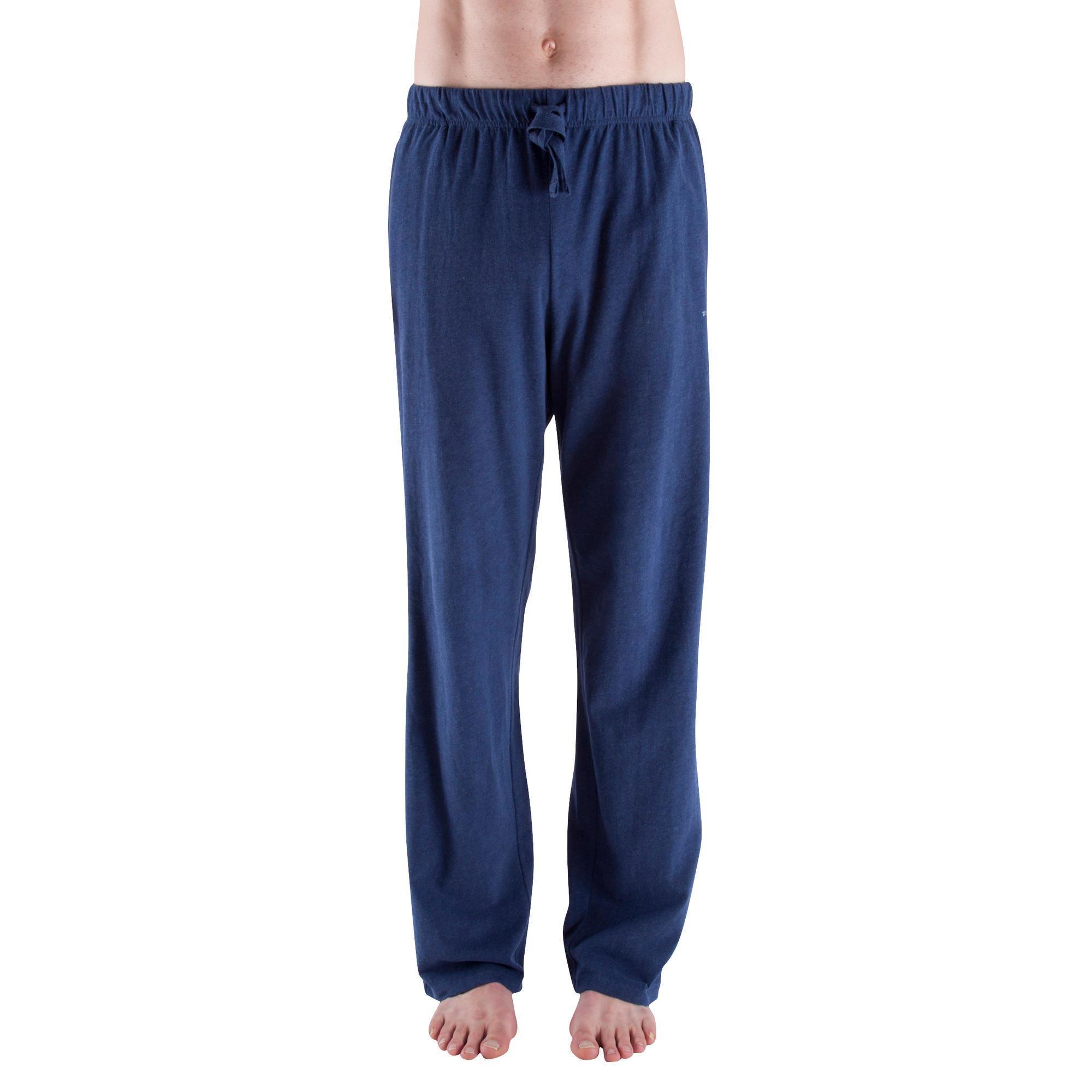 0adb1b6f5 Pantalón hombre gimnasia suave yoga azul jaspeado